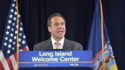 You gotta love him: Praise for Gov. Andrew Cuomo was hot and heavy at Thursday's grand opening of the Long Island Welcome Center.
